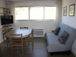 Sala de estar - Apartamento en alquiler de temporada en La Mongie - 328204293