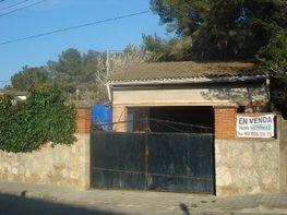 Fachada con garaje.jpg - Terreno en venta en calle Pere Miret, Olivella - 181019196