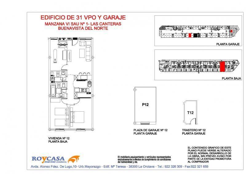 Plano - Piso en alquiler en urbanización Las Canteras, Buenavista del Norte - 87022464