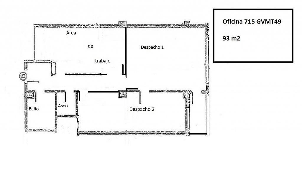 Oficina en alquiler en vía Gran Marqués del Turia, Gran Vía en Valencia - 411618222