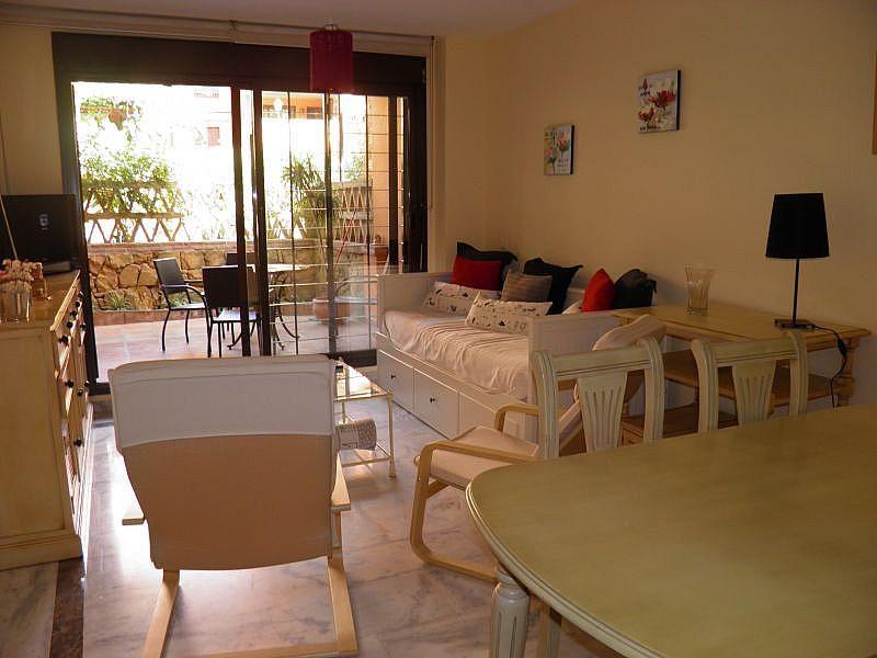 Sala de estar - Apartamento en alquiler de temporada en Nagüeles Alto en Marbella - 263761972