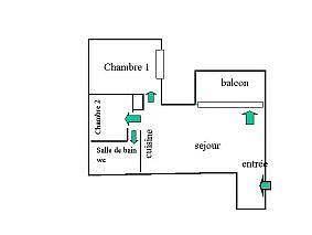Plano del alojamiento - Apartamento en alquiler de temporada en Bagnères-de-Luchon - 271363333