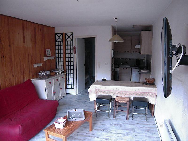 Sala de estar - Apartamento en alquiler de temporada en La Mongie - 380074038