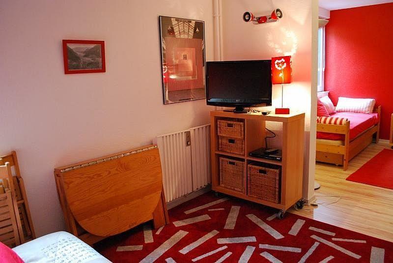 Sala de estar - Apartamento en alquiler de temporada en La Mongie - 261116812