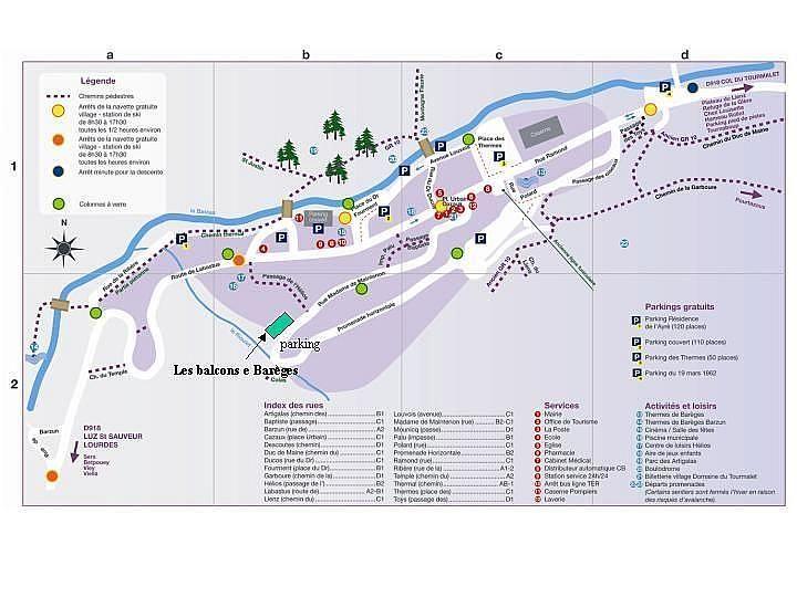 Mapa - Apartamento en alquiler de temporada en Barèges - 268925887