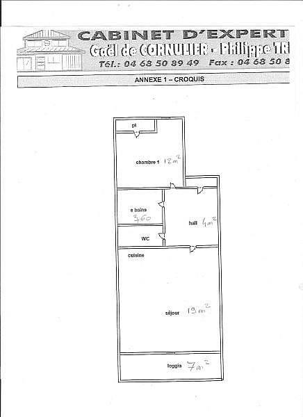 Plano del alojamiento - Apartamento en alquiler de temporada en Font-Romeu-Odeillo-Via - 259053374
