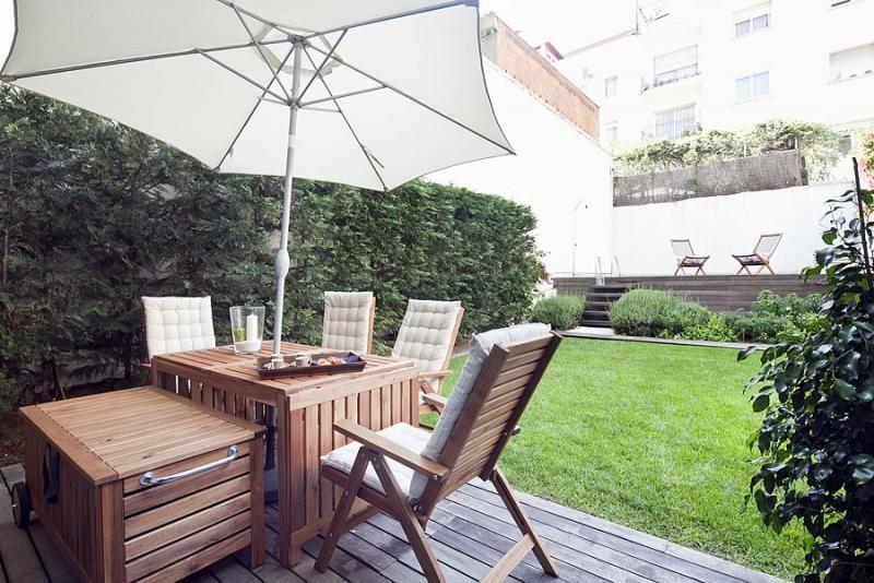 Jardín - Dúplex en alquiler de temporada en calle Prats de Mollo, Sant Gervasi – Galvany en Barcelona - 84234521