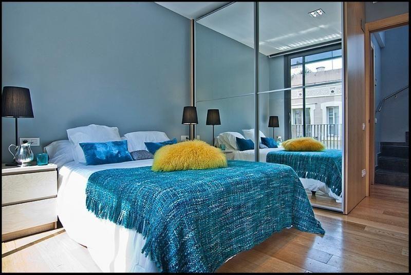 Dormitorio - Ático-dúplex en alquiler de temporada en calle Ramón y Cajal, Vila de Gràcia en Barcelona - 84381920