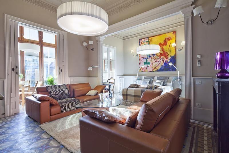 Salón - Apartamento en alquiler de temporada en rambla Catalunya, Eixample dreta en Barcelona - 84382193