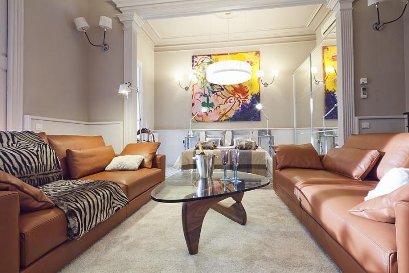 Salón - Apartamento en alquiler de temporada en rambla Catalunya, Eixample dreta en Barcelona - 84382195