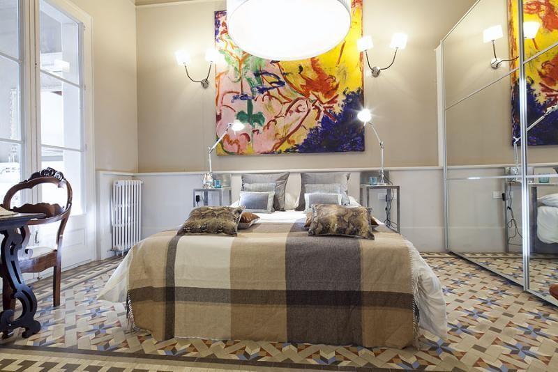 Dormitorio - Apartamento en alquiler de temporada en rambla Catalunya, Eixample dreta en Barcelona - 84382197