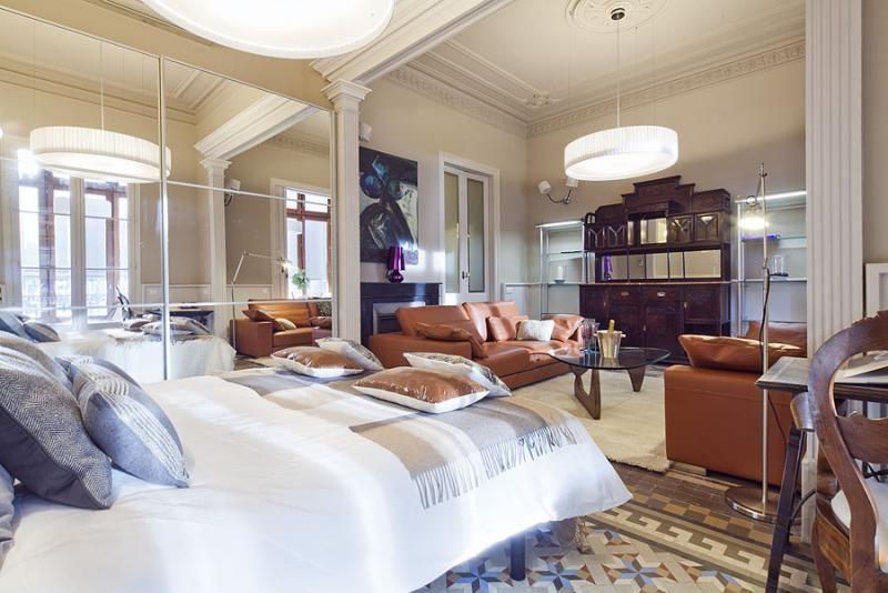 Dormitorio - Apartamento en alquiler de temporada en rambla Catalunya, Eixample dreta en Barcelona - 84382198