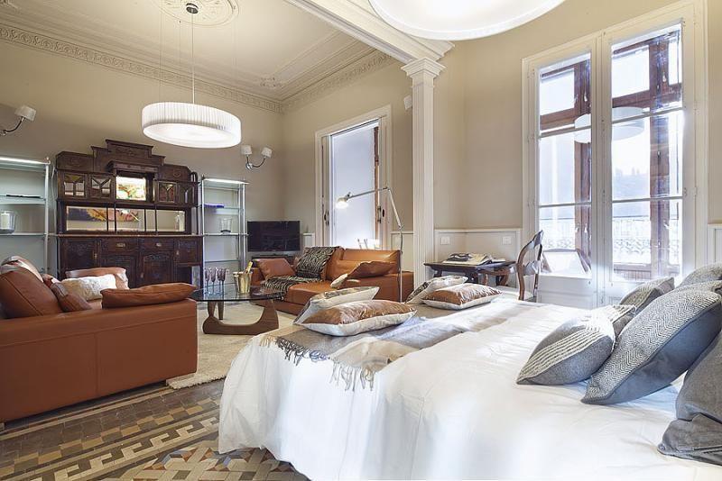 Dormitorio - Apartamento en alquiler de temporada en rambla Catalunya, Eixample dreta en Barcelona - 84382201