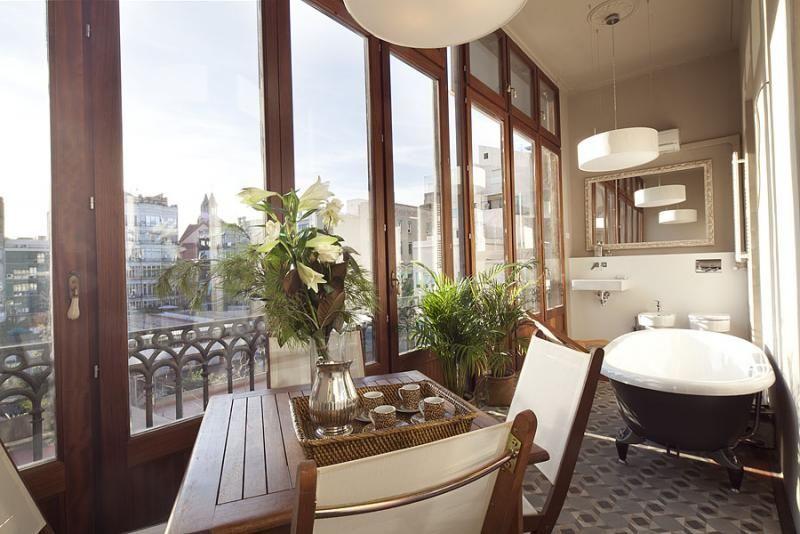 Baño - Apartamento en alquiler de temporada en rambla Catalunya, Eixample dreta en Barcelona - 84382203