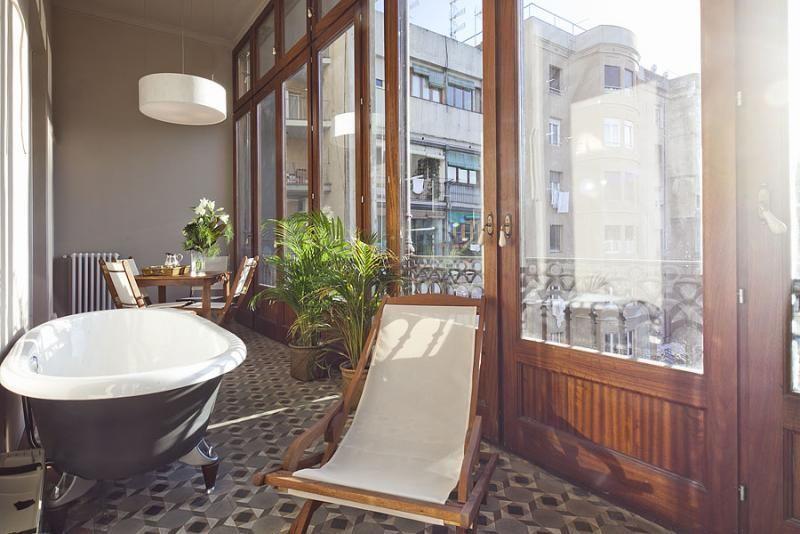 Baño - Apartamento en alquiler de temporada en rambla Catalunya, Eixample dreta en Barcelona - 84382207