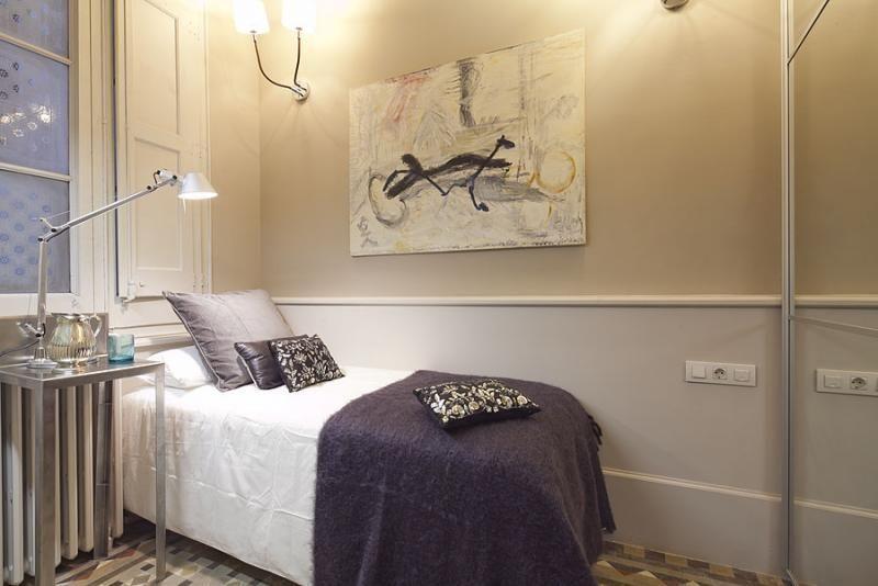 Dormitorio - Apartamento en alquiler de temporada en rambla Catalunya, Eixample dreta en Barcelona - 84382214