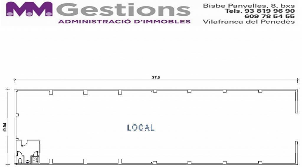 Plano - Local en alquiler en calle Mestre Josep Recasens, Poble Nou en Vilafranca del Penedès - 127207973