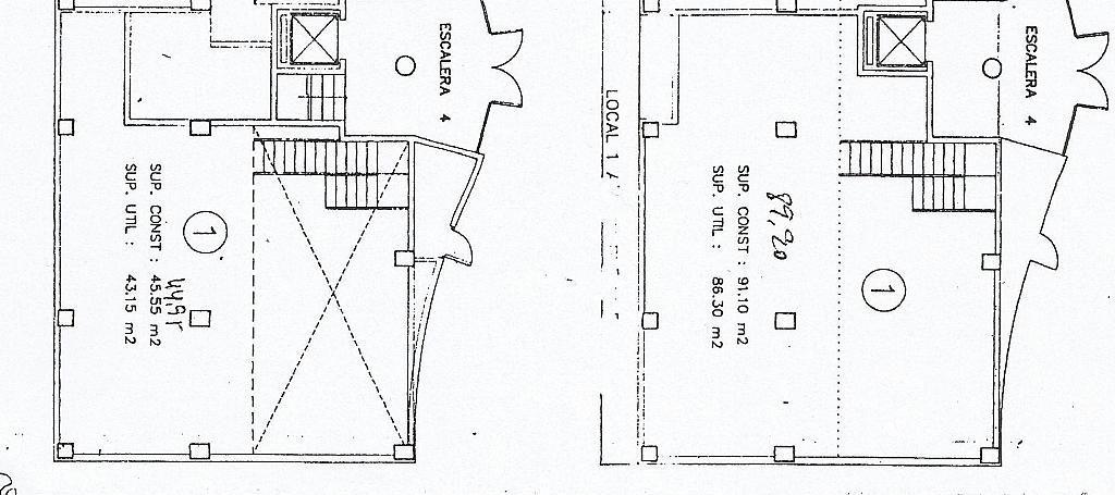 Plano - Local comercial en alquiler en calle San Blas, San Blas - Santo Domingo en Alicante/Alacant - 205672753