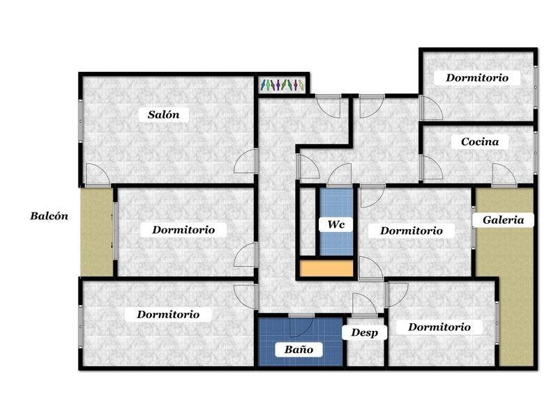 Plano - Piso en alquiler en calle Tres Cruces, Pantoja en Zamora - 119069398