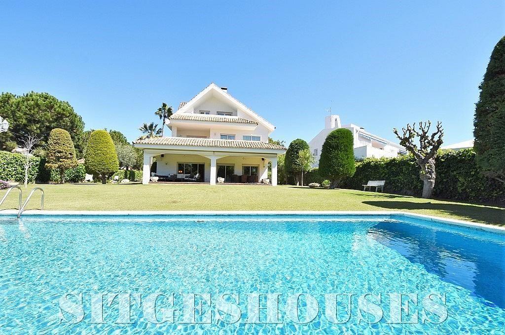 Piscina - Casa en alquiler en calle Josep Planas I Robert, Terramar en Sitges - 263611467