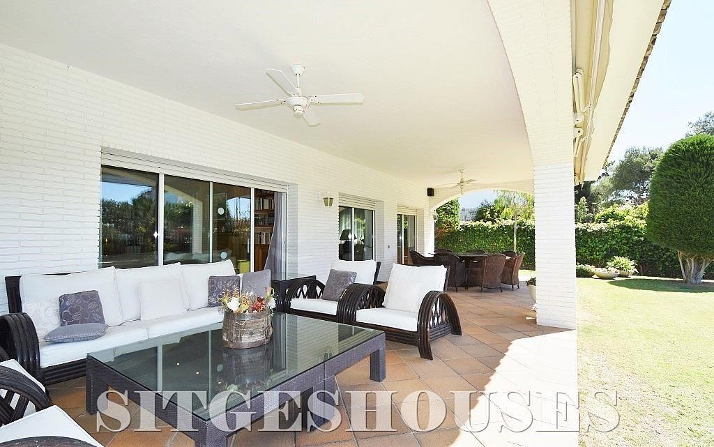 Terraza - Casa en alquiler en calle Josep Planas I Robert, Terramar en Sitges - 263611479