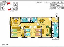 Plano - Piso en venta en calle Matilde Cantos, Norte en Granada - 125358021